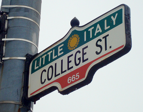 New York state of mind little_italy_sign